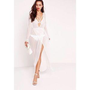 {Miss Guided} Mesh Maxi Dress